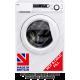 Ebac AWM86D2H-WH Super Silent Washing Machine 8kg, 1600 Spin **HOT & COLD FILL**